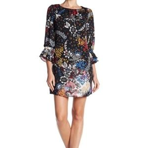 Landry by Shelli Segal Floral Shift Dress Size 8